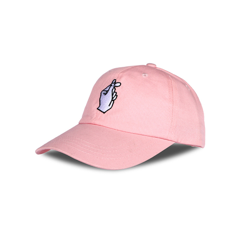 Cotton Pink Black Sports Dad Hats Chic Design Sun Protection Headwear