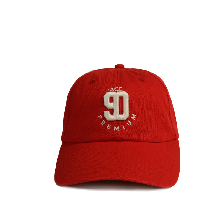 Sublimation Wool Baseball Sports Dad Hats With Logo 3d Embroidery Red